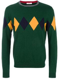 "трикотажный свитер с узором ""аргайл"" Sun 68"