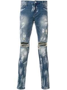 джинсы скинни с потертой отделкой Represent