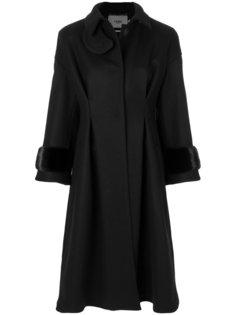 свободное длинное пальто Fendi