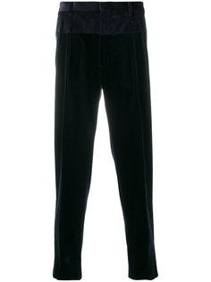 классические брюки с контрастными панелями Gabriele Pasini