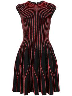 трикотажное платье с короткими рукавами Alexander McQueen