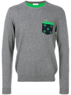 свитер с контрастной заплаткой Sun 68
