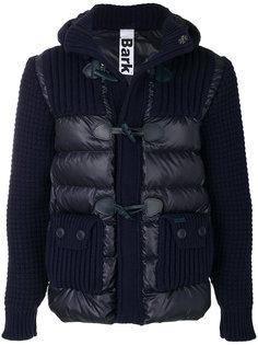 пуховая куртка с деталями вафельной вязки Bark