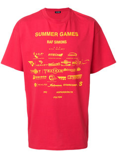 футболка с принтом games Raf Simons