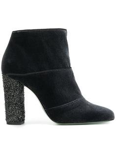 бархатные ботинки по щиколотку Paola Darcano