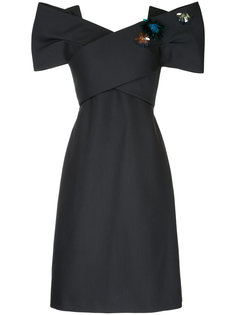 платье с крупным бантом Delpozo