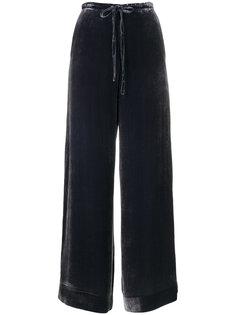 длинные бархатные брюки в стиле casual McQ Alexander McQueen