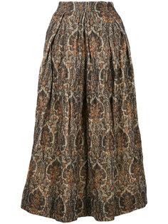 А-образная юбка с цветочным принтом  Uma Wang