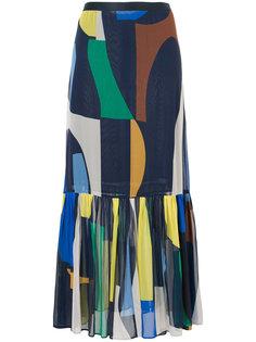 юбка с геометрическим принтом GINGER & SMART