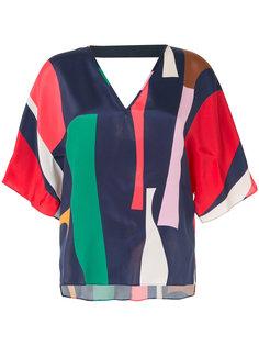 блузка с геометрическим принтом GINGER & SMART
