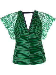 блузка с V-образным вырезом GINGER & SMART