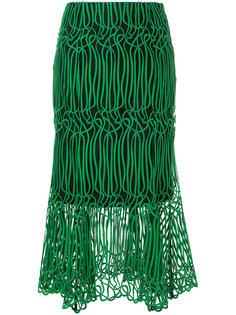 расклешенная юбка-миди GINGER & SMART