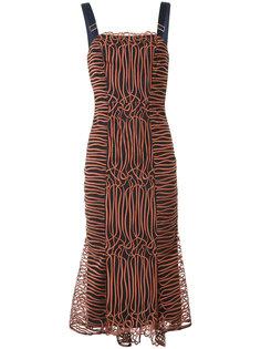 приталенное платье с пряжками на лямках GINGER & SMART