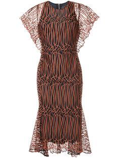 расклешенное платье миди GINGER & SMART