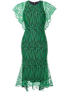 прозрачное расклешенное платье GINGER & SMART