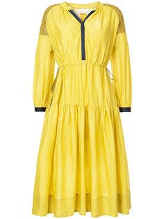 приталенное платье с перфорацией GINGER & SMART