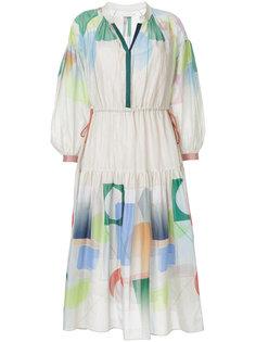 расклешенное платье с геометрическим принтом  GINGER & SMART