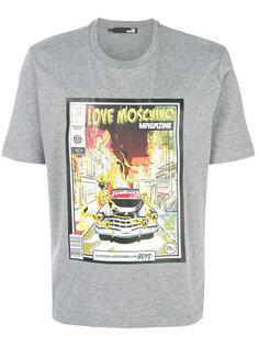 футболка с принтом журнала Love Moschino