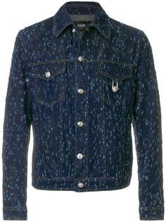 джинсовая куртка с потертой отделкой Versus