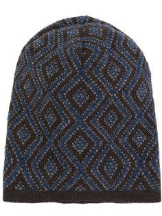 шапка с ромбовидным узором Lardini