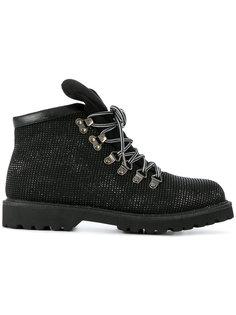 ботинки на шнуровке с блестками Twin-Set