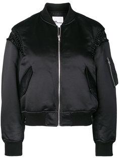куртка-бомбер с отделкой макраме  Comme Des Garçons Noir Kei Ninomiya