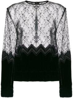 полупрозрачная кружевная блузка  Comme Des Garçons Noir Kei Ninomiya