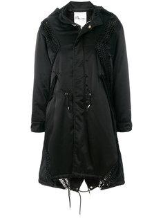 стеганое пальто с отделкой макраме Comme Des Garçons Noir Kei Ninomiya