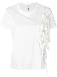 футболка с бантом сбоку  Comme Des Garçons Noir Kei Ninomiya