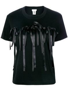 футболка с бантами  Comme Des Garçons Noir Kei Ninomiya