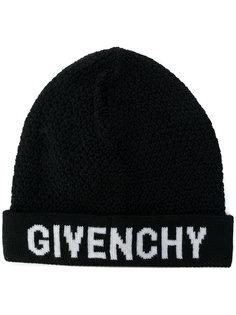 вязаная шапка с заплаткой с логотипом Givenchy