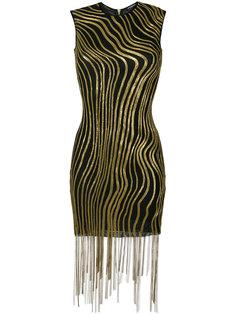 декорированное платье мини Balmain