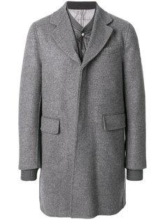многослойное однобортное пальто  Moncler Gamme Bleu