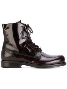 лакированные ботинки на шнуровке Versace