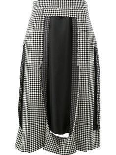 юбка с плиссировкой и прорезями Maison Margiela