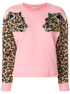 свитер с леопардовым принтом  Vivetta