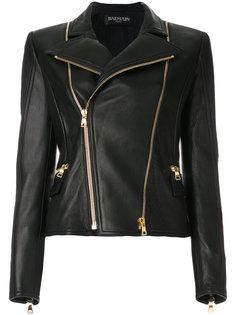классическая байкерская куртка  Balmain