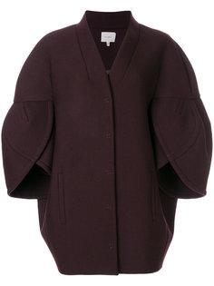 пальто со структурированными рукавами Delpozo