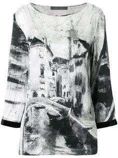 блузка с принтом и длинными рукавами Alberta Ferretti