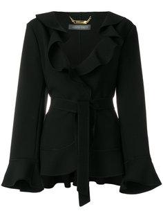 куртка с поясом и оборкой  Alberta Ferretti
