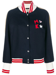 куртка-бомбер с нашивкой логотипа Maison Kitsuné