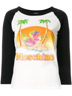 топ с принтом пони Moschino