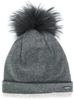 шапка-бини с помпоном из меха енота Woolrich