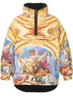 дутая куртка с принтом Fresco  Moschino