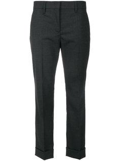 укороченные строгие брюки  Prada