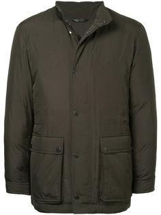 стеганое пальто с накладными карманами  Gieves & Hawkes