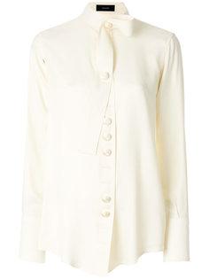 блузка с высокой горловиной  Joseph