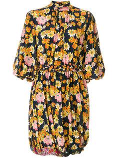 платье с буффами на рукавах и цветочным принтом Joseph