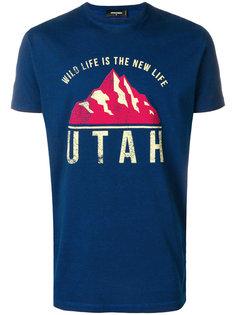 футболка с принтом американского флага Dsquared2