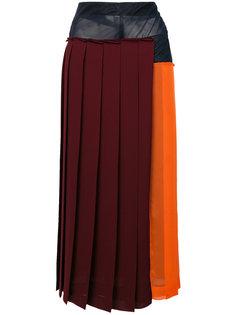 плиссированная юбка с прозрачной панелью Victoria Beckham